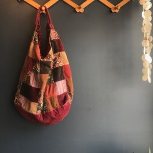 Handbags - Patchwork Hobo Bag